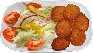 Falafel salaatilla